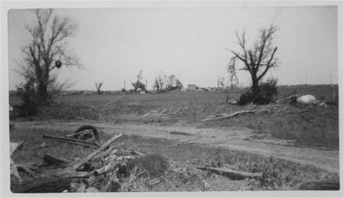 Tornado damage to the Vital DeDonder residence, Pottawatomie County, Kansas - Page