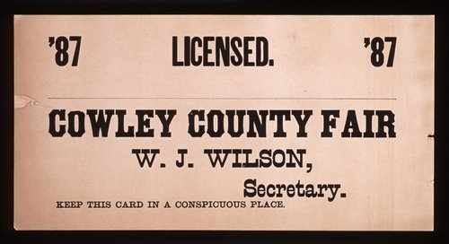 Licensed. Cowley County fair - Page