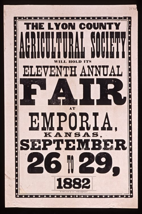 The eleventh annual fair of the Lyon County Agricultural Society - Page