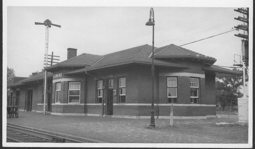 Atchison, Topeka and Santa Fe Railway Company depot, Florence, Kansas - Page