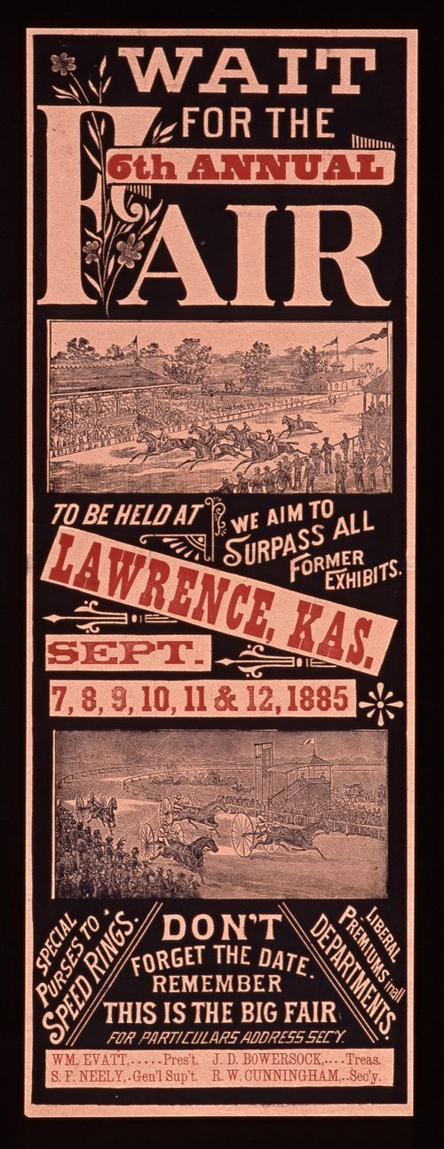 Wait for the sixth annual fair to be held at Lawrence, Kansas - Page