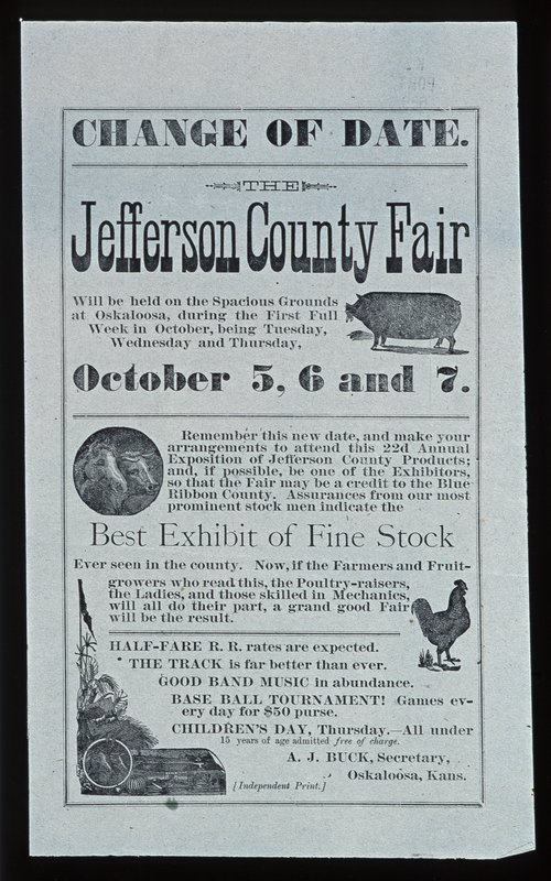 Change of date. The Jefferson county fair - Page