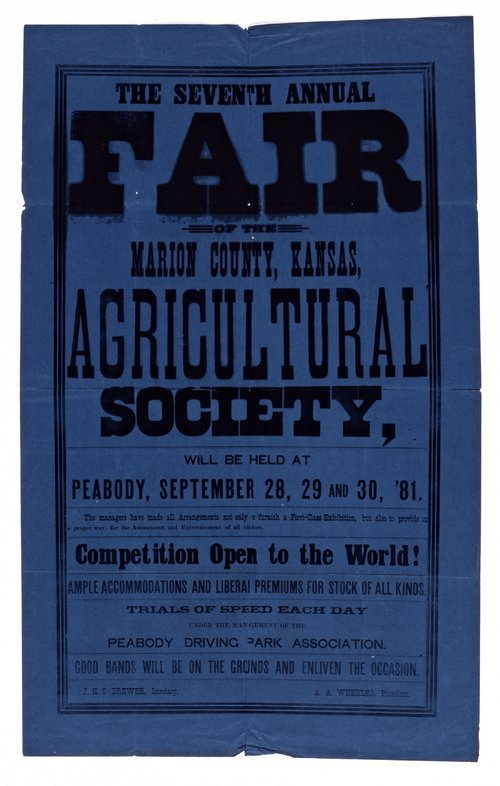 The seventh annual fair of the Marion County, Kansas, Agricultural Society - Page