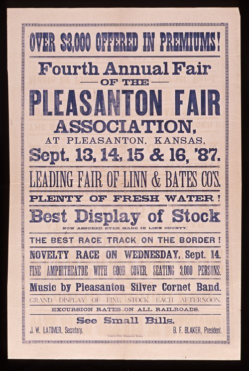 Fourth annual fair of the Pleasanton Fair Association - Page