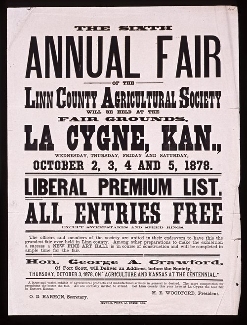 The sixth annual fair of the Linn County Agricultural Society - Page