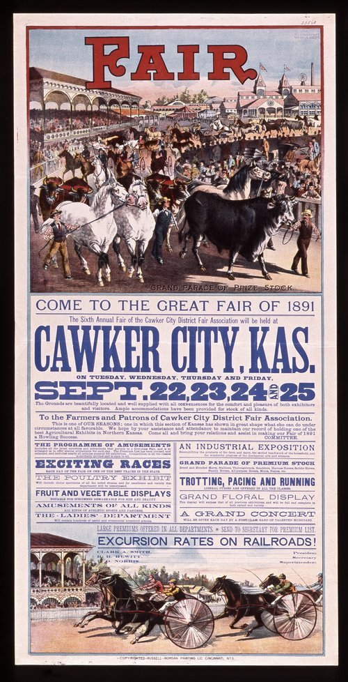 The sixth annual fair of the Cawker City District Fair Association - Page