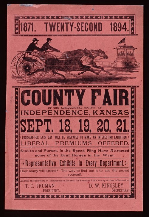 Twenty-second county fair of the Agricultural Society at Independence, Kansas - Page