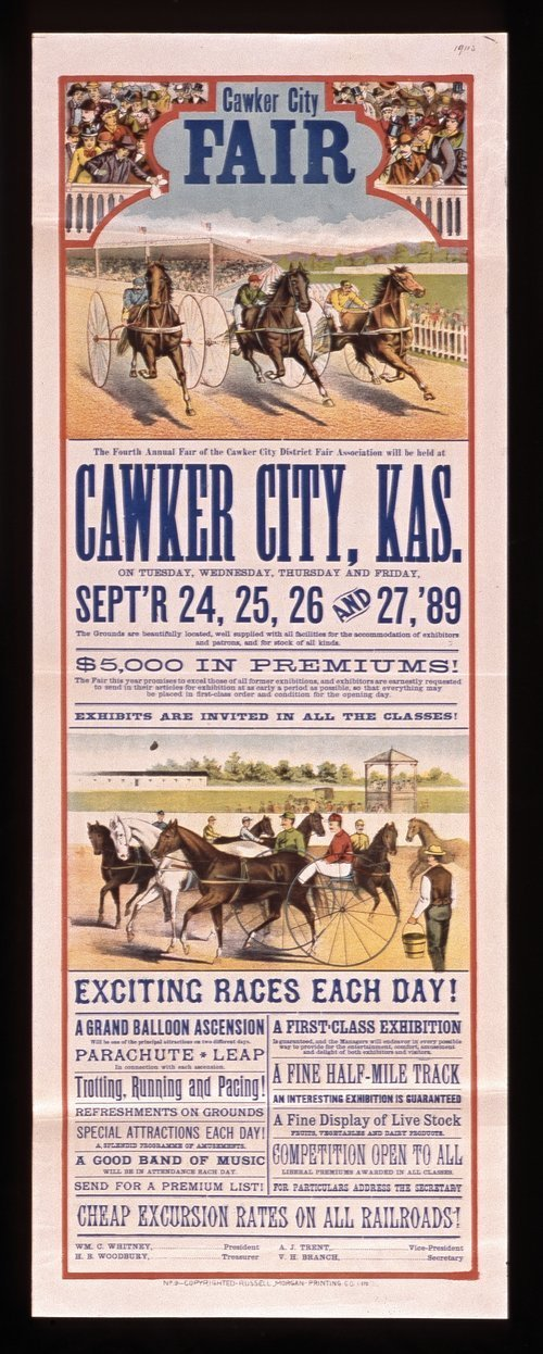 The fourth annual fair of the Cawker City District Fair Association - Page