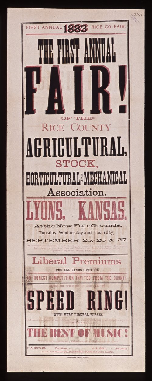 The first annual fair of the Rice County Agricultural, Stock, Horticultural and Mechanical Association - Page