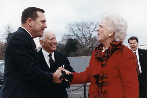 John Michael (Mike) Hayden with Barbara Bush - Page