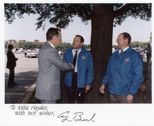 John Michael (Mike) Hayden with President George Herbert Walker Bush - Page
