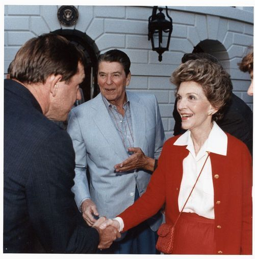 John Michael (Mike) Hayden with President Ronald Wilson Reagan and First Lady Nancy Reagan - Page