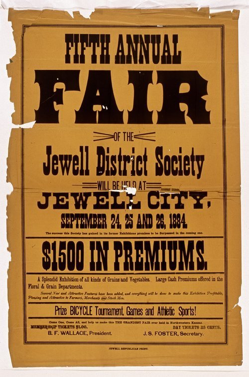 Fifth annual fair of the Jewell District Society, Jewell City, Kansas - Page