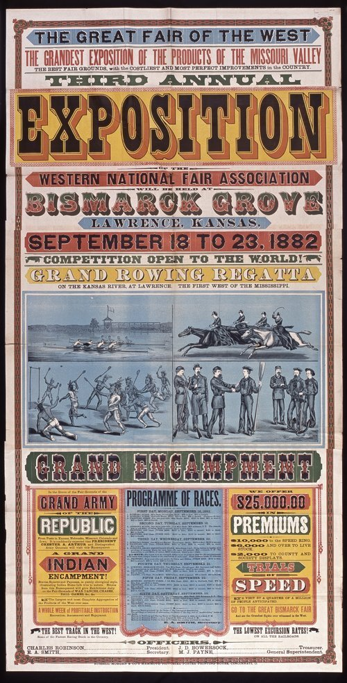 Great fair of the West, Bismark Grove, Lawrence, Kansas - Page