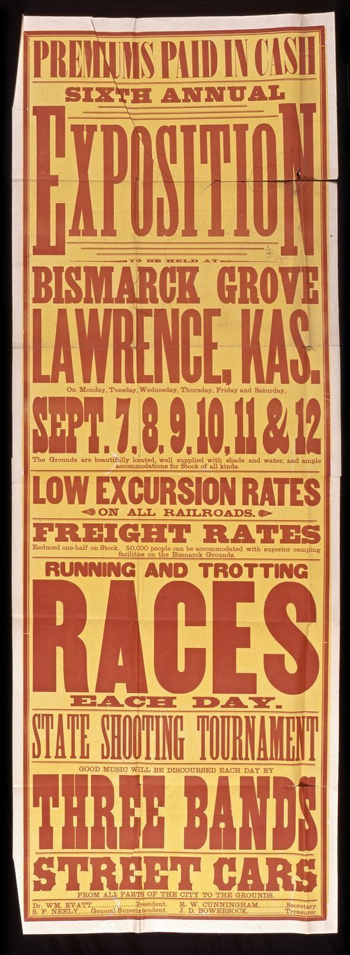 Sixth annual exposition to be held at Bismark Grove, Lawrence, Kansas - Page