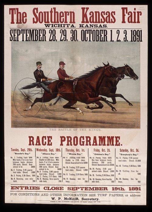 Southern Kansas fair race programme - Page