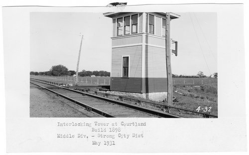 Atchison Topeka and Santa Fe Railway Company's interlocking tower, Courtland, Kansas - Page