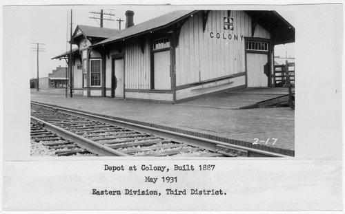 Atchison Topeka and Santa Fe Railway Company depot, Colony, Kansas - Page