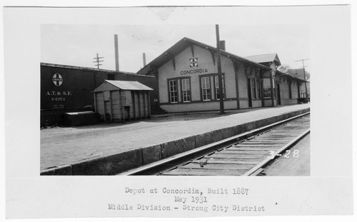 Atchison Topeka and Santa Fe Railway Company depot, Concordia, Kansas - Page