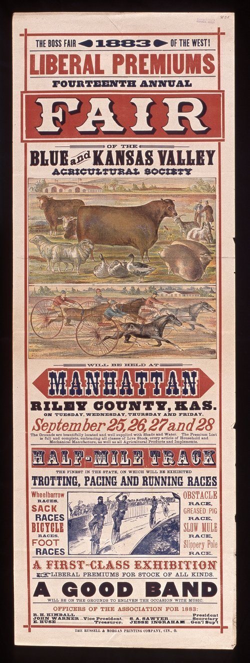 Fourteenth annual fair of the Blue and Kansas Valley Agricultural Society - Page