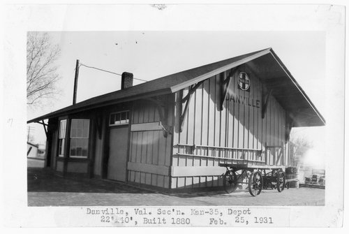 Atchison, Topeka and Santa Fe Railway Company depot, Danville, Kansas - Page