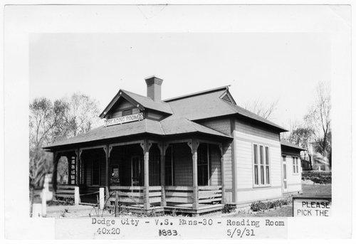 Atchison Topeka & Santa Fe Railway Company's reading room, Dodge City, Kansas - Page