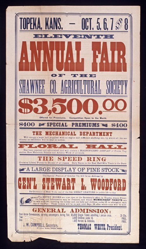 Eleventh annual fair of the Shawnee County Agricultural Society, Topeka, Kansas - Page