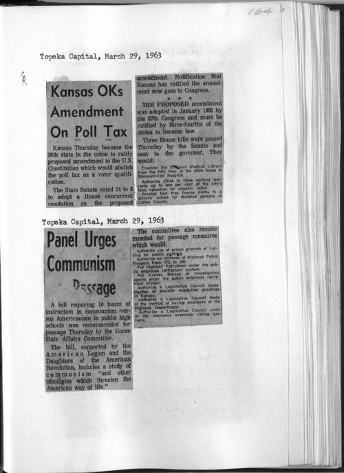 Kansas approves amendment on poll tax - Page