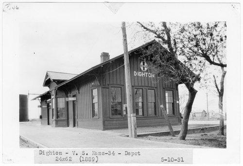 Atchison Topeka and Santa Fe Railway Company depot, Dighton, Kansas - Page