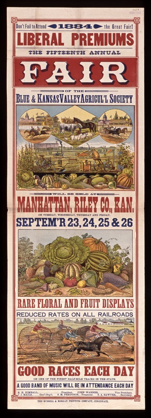 The fifteenth annual fair of the Blue & Kansas Valley Agricultural Society - Page