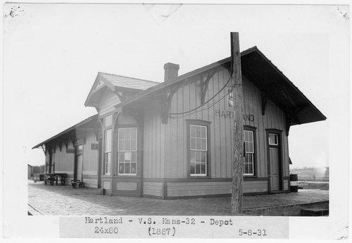 Atchison, Topeka and Santa Fe Railway Company depot, Hartland, Kansas - Page