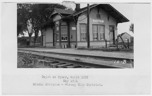 Atchison, Topeka & Santa Fe Railway Company depot, Hymer, Kansas - Page