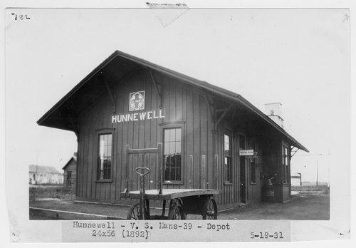 Atchison, Topeka and Santa Fe Railway Company depot, Hunnewell, Kansas - Page