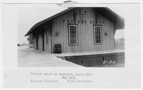 Atchison, Topeka and Santa Fe Railway Company's freight depot, Humbolt, Kansas - Page