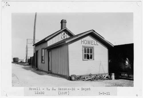Atchison Topeka and Santa Fe Railway Company depot, Howell, Kansas - Page