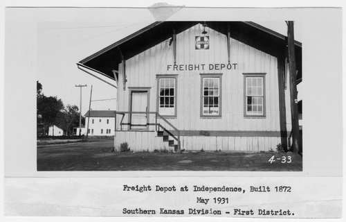 Atchison, Topeka and Santa Fe Railway Company's freight depot, Independence, Kansas - Page
