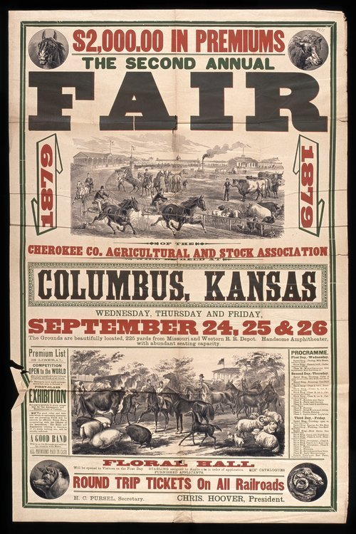 The second annual fair of the Cherokee County Agricultural and Stock Association - Page