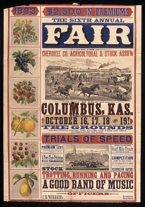The sixth annual fair of the Cherokee County Agricultural & Stock Association - Page