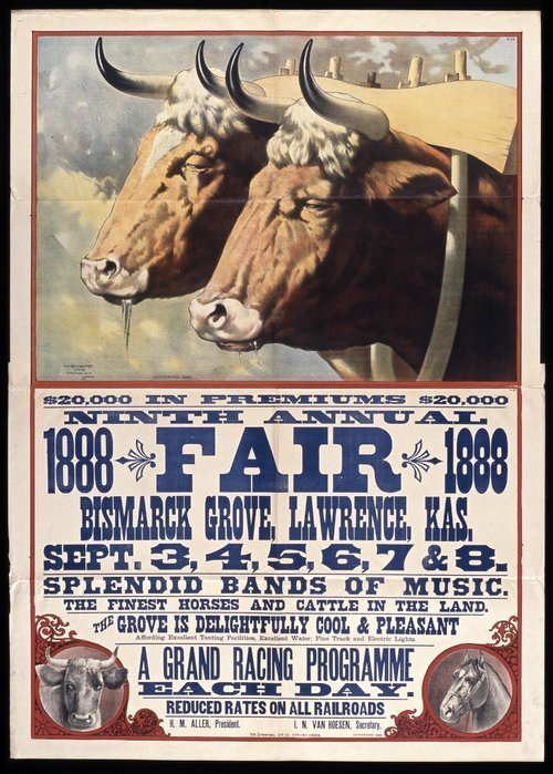 Ninth annual fair, Bismarck Grove, Lawrence, Kansas - Page