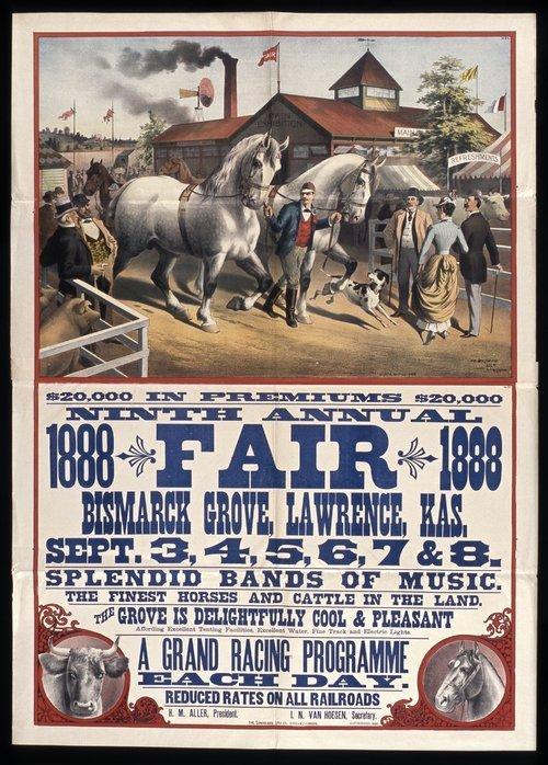 Ninth annual fair, Bismarck Grove, Lawrence, Kansas - Page