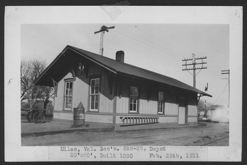 Atchison, Topeka and Santa Fe Railway Company depot, Milan, Kansas - Page