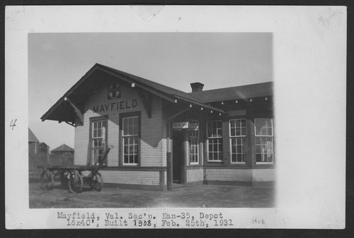 Atchison, Topeka & Santa Fe Railway Company depot, Mayfield, Kansas - Page