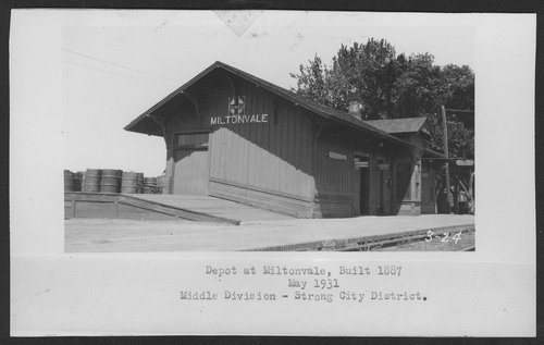 Atchison, Topeka & Santa Fe Railway Company depot, Miltonvale, Kansas - Page