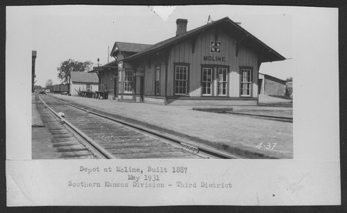 Atchison, Topeka & Santa Fe Railway Company depot, Moline, Kansas - Page