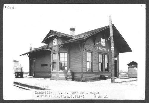 Atchison, Topeka and Santa Fe Railway Company depot, Nashville,  Kansas - Page