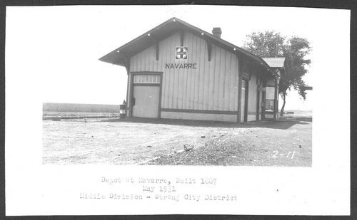 Atchison, Topeka & Santa Fe Railway Company depot, Navarre, Kansas - Page