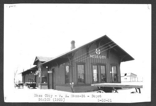 Atchison, Topeka & Santa Fe Railway Company depot, Ness City, Kansas - Page