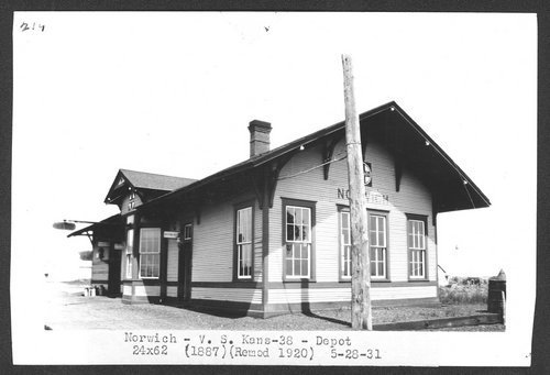 Atchison, Topeka & Santa Fe Railway Company depot, Norwich, Kansas - Page