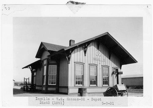Atchison, Topeka & Santa Fe Railway Company depot, Ingalls, Kansas - Page