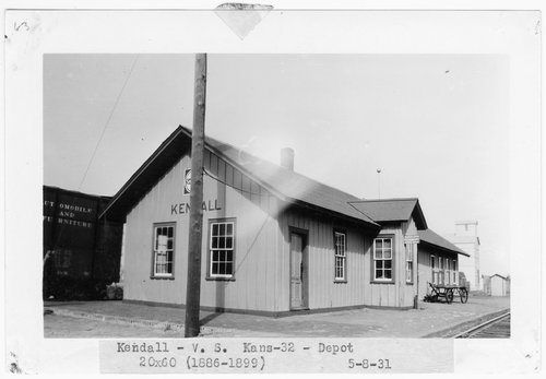 Atchison Topeka and Santa Fe Railway Company depot, Kendall, Kansas - Page
